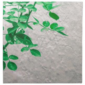 Pflanzen über Wand-Foto Stoffserviette
