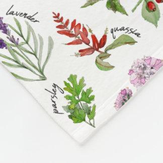 Pflanzen-und Kraut-Alphabet Fleecedecke