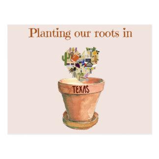 Pflanzen unserer Wurzeln in der neuen Postkarte