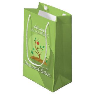 Pflanzen, was Sie grünen flachen Entwurf ernten Kleine Geschenktüte