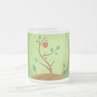 Pflanzen, was Sie grünen flachen Entwurf ernten Mattglastasse