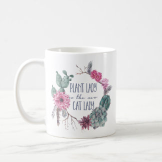Pflanzendame ist die neue Katzendame Kaffeetasse
