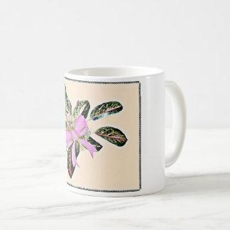 Pflanzenrosabogen-Dekorbecher des chinesischen Kaffeetasse