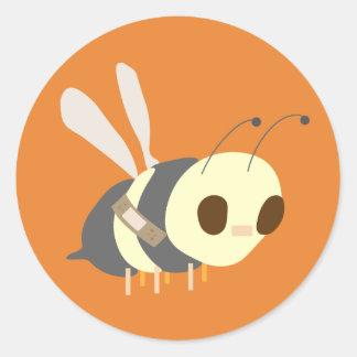 Pflaster Biene Runder Aufkleber