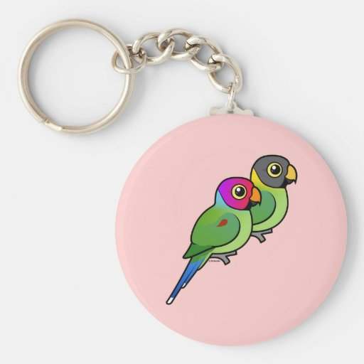 Pflaume-köpfige Parakeet-Paare Schlüsselbänder