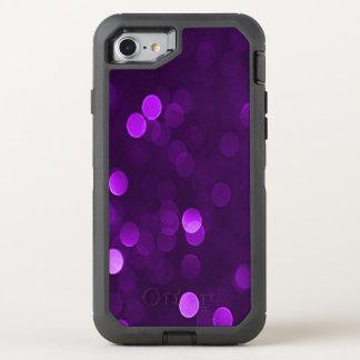 Pflaume lila Bokeh Blurry funkelnd Lichter OtterBox Defender iPhone 8/7 Hülle