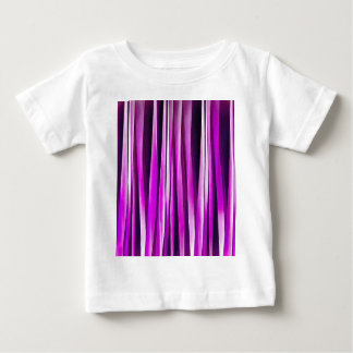 Pflaume lila und und Stripy Linien Muster Baby T-shirt