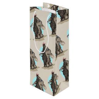 PFLAUMEN-ALIEN-MONSTER-CARTOON Geschenk-Tasche Geschenktüte Für Weinflaschen