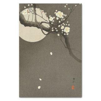 Pflaumen-Blüten nachts durch Ohara Koson elegant Seidenpapier