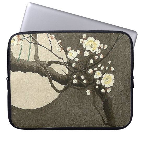 Pflaumen-Blüten nachts durch Ohara Koson Vintag Laptop Sleeve