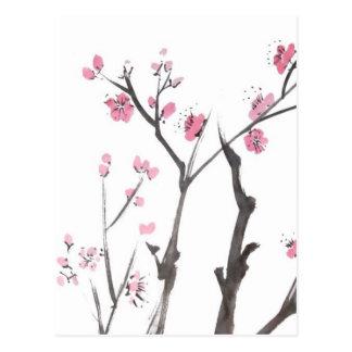 Pflaumen-Blüten-Niederlassungs-im Frühjahr Postkarte
