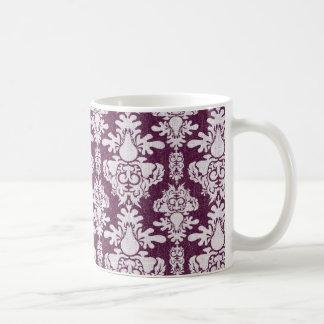 Pflaumen-Damast Kaffeetasse