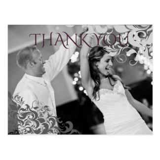 Pflaumen-danken barocke Leuchter-Hochzeit Ihnen Postkarte