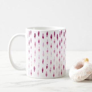 Pflaumen-Federn Kaffeetasse