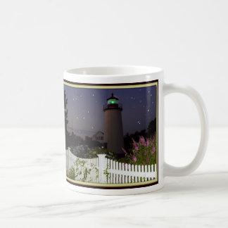 Pflaumen-Insel-Leuchtturm Kaffeetasse