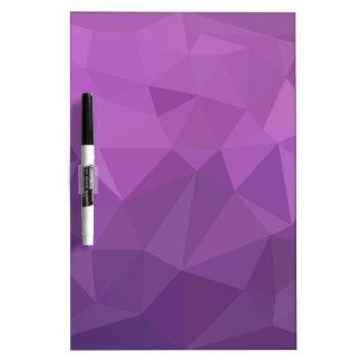 Pflaumen-lila abstrakter niedriger memoboard