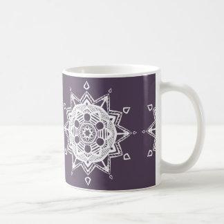 Pflaumen-Mandala Kaffeetasse