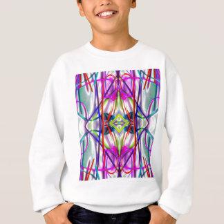 Pflaumen-perfekte verbogene Linien Sweatshirt