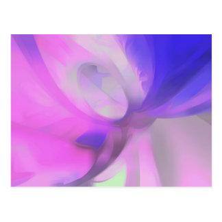 Pflaumen-Saft-Pastellabstraktes Postkarte