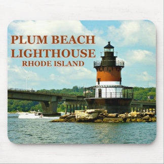Pflaumen-Strand-Leuchtturm, Rhode Island Mousepad