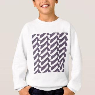 Pflaumen-Weiß-Karos Sweatshirt