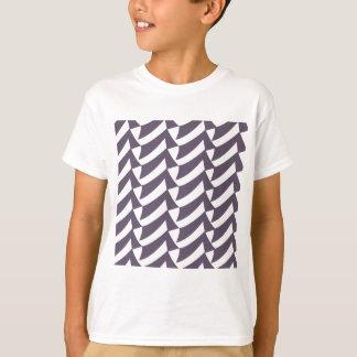 Pflaumen-Weiß-Karos T-Shirt