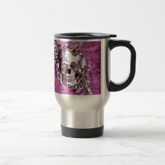 Pflaumenrauchschädel mit Schmetterlingen Tee Tassen