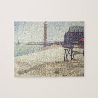 Pflegeheim und Leuchtturm, Honfleur durch Georges Puzzle