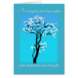 Pflegekraft-Stützermutigung religiöses Christia Karte