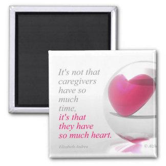 Pflegekräfte haben soviel Herz - Magneten Quadratischer Magnet