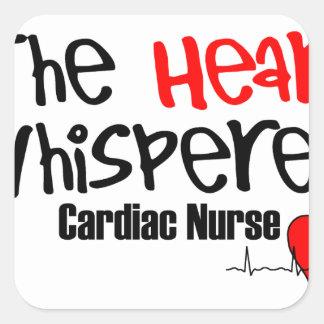 Pflegen Sie den Herz Whisperer Quadratischer Aufkleber