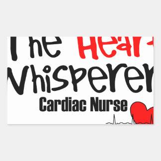 Pflegen Sie den Herz Whisperer Rechteckiger Aufkleber