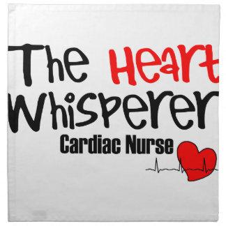 Pflegen Sie den Herz Whisperer Stoffserviette