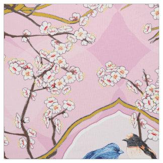 PH&D Drossel-Vignette Toile Gewebe-Iris-Rosa Stoff