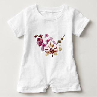 Phalaenopsis-Orchideen-Blumen-Blumenstrauß Baby Strampler