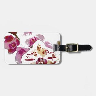 Phalaenopsis-Orchideen-Blumen-Blumenstrauß Gepäckanhänger