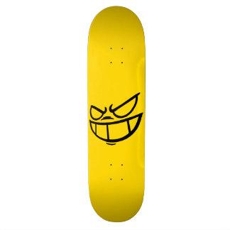 PhantomSmile™ Marken-schwarzes u. gelbes Skateboard Deck