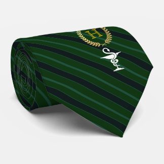 Pharmakologie-berufliches gerahmtes Monogramm-Grün Krawatte