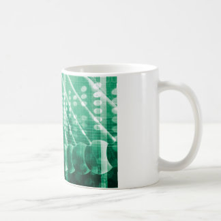 Pharmazeutische Forschungs-Daten als Kaffeetasse