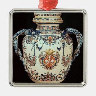 Pharmazeutisches Glas Quadratisches Silberfarbenes Ornament