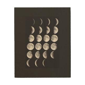 Phasen des Mondes Holzwanddeko