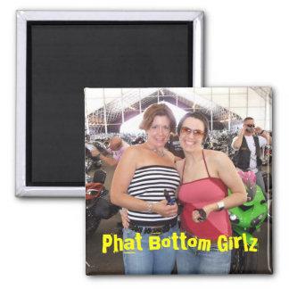 Phat unteres Girlz Quadratischer Magnet