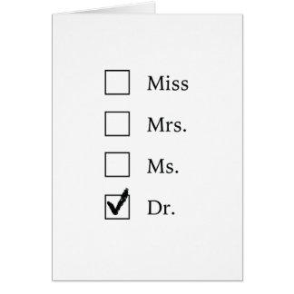 PhD-Geschenke für Frauen Karte