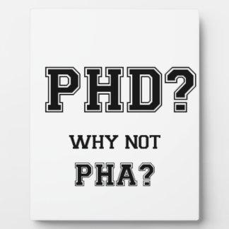 PhD? Warum nicht PhA? PhD-Abschlussgeschenk Fotoplatte