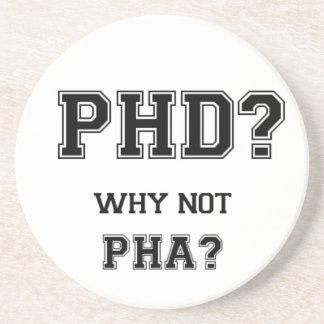PhD? Warum nicht PhA? PhD-Abschlussgeschenk Sandstein Untersetzer