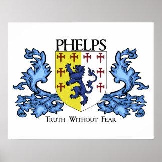 Phelps Familien-Wappen Poster