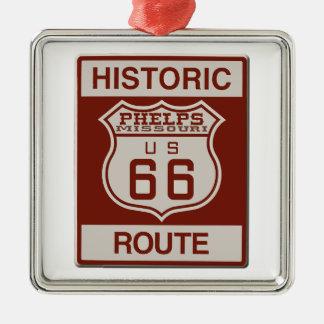 Phelps Weg 66 Silbernes Ornament