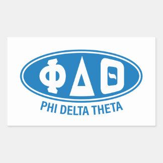 Phi-Deltatheta | Vintag Rechteckiger Aufkleber