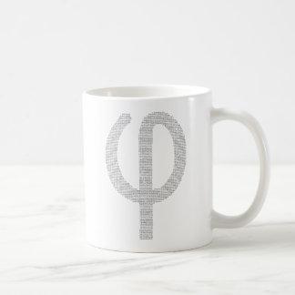 Phi (goldenes Verhältnis) Kaffeetasse