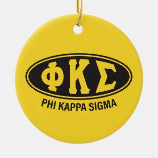 Phi-Kappa-Sigma | Vintag Keramik Ornament